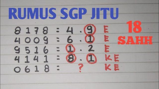 Prediksi SGP